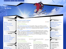 Ski Junkie Joomla template