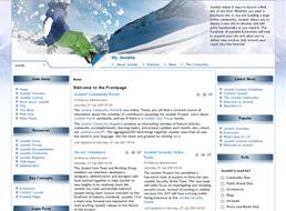 Snowboarding Fiesta Joomla template