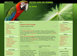 Tropical Forest Joomla template