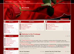 Red Rose Joomla 1.5 template