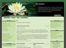 Water Lily Joomla 1.5 template