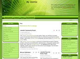 Green Abstract Joomla 1.5 template