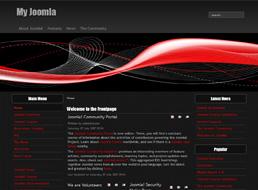 Red Wave Joomla 1.5 template