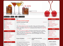 Cocktails Joomla template