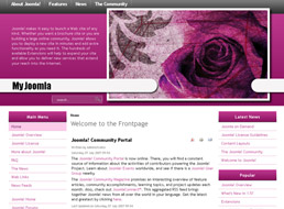 Purple Rose Joomla template