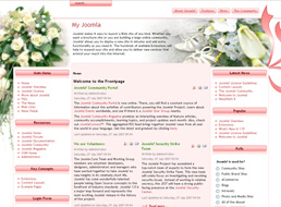 Wedding Bouquets Joomla template